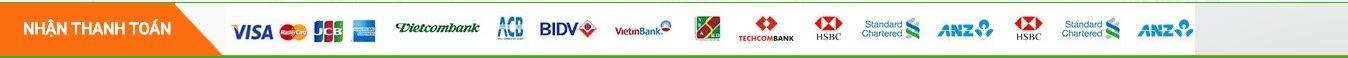 nhận thanh toán qua các tài khoản ngân hàng