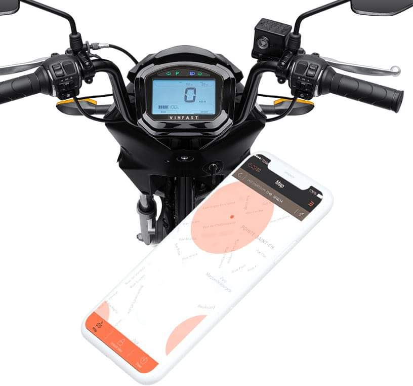 định vị GPS của xe máy điện vinfast impes trên điện thoại