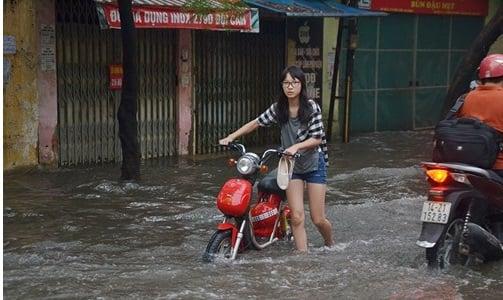xe đạp điện bị ngập nước