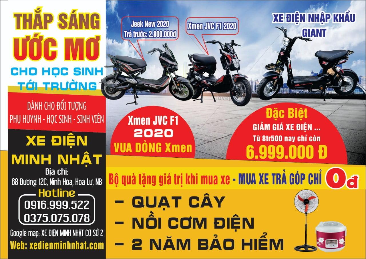 địa chỉ bán xe điện JVC Ninh Bình